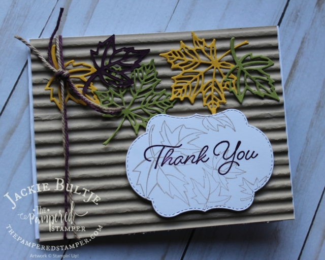 Blended Seasons is beautiful with Colourful Seasons and Corrugated embossing folder.