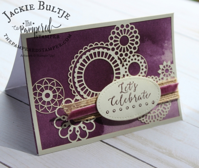 Delightfully Detailed note cards pair up with the Delightfully Detailed Laser-Cut paper for a super easy card.
