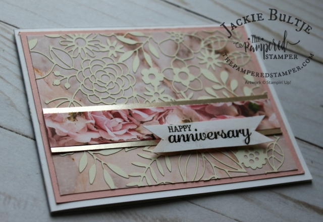 Delightfully Detailed Laser-Cut Paper adhered to Petal Promenade Paper for easier cutting