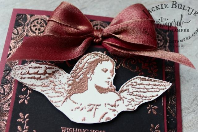 Mery Merlot and Copper reversible ribbon.