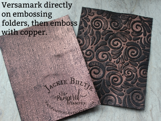 Swirls and Curls and Subtle embossing folder