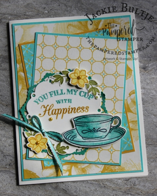 Time for Tea card cased from Kristi Gray.