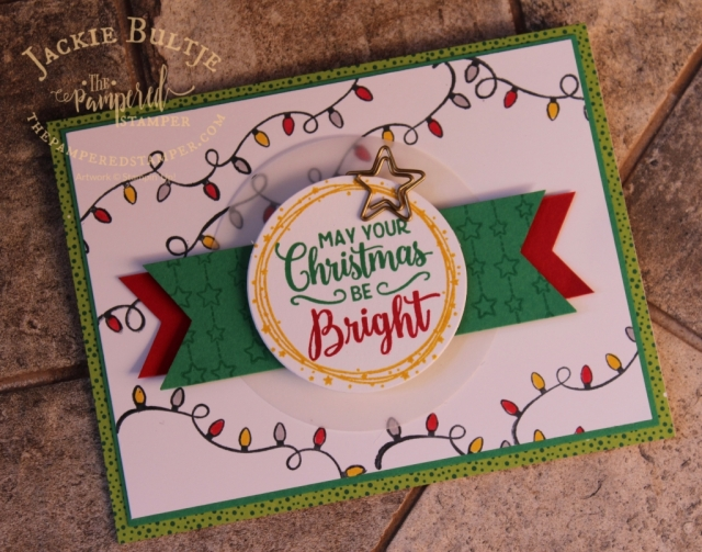 All is Bright card with real red and call me clover and the Making Christmas Bright stamp set.
