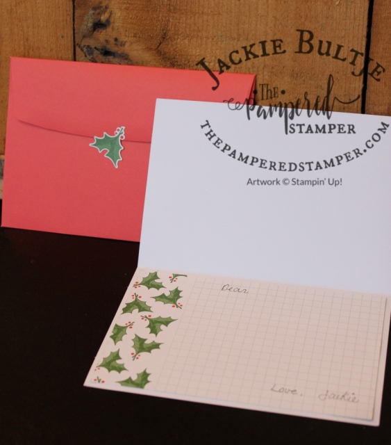 Take those Memories and More cards to the inside of your card to dress it up even more!
