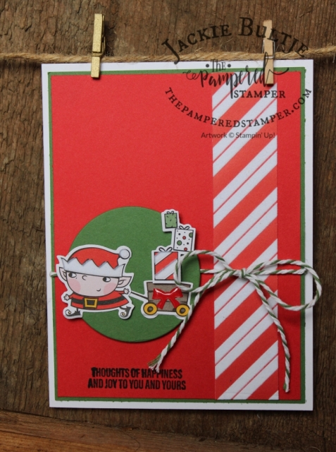 Enamel shapes add a lovely touch to this card using Signs of Santa