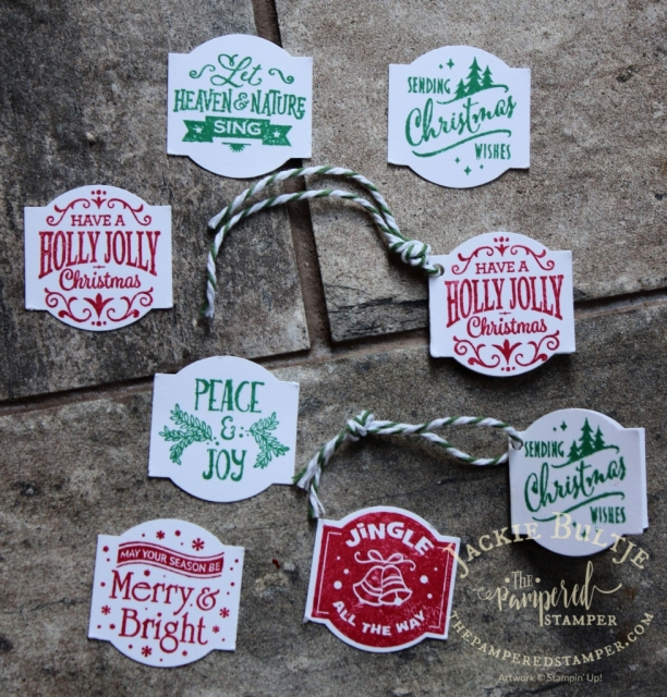 Look at all the pretty tags that you can make with the Christmas Traditions Punch box
