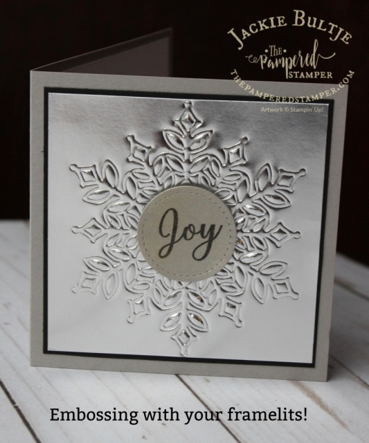 Embossing with the Snowflake Showcase framelits.