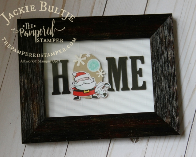 Large Letters and Signs of Santa for a cute home decor project