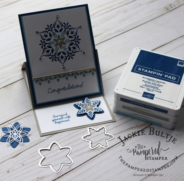 Happiness Surrounds is one of the stamp sets in the Snowflake Showcase collection