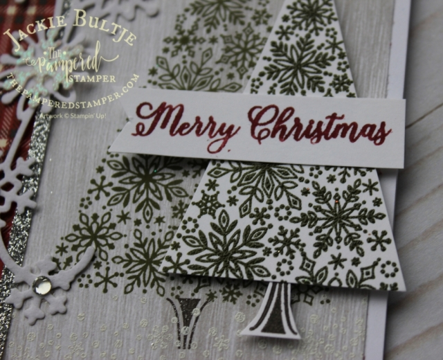 Snowflake Showcase only for November, this is the Snow is Glistening stamp set embossed