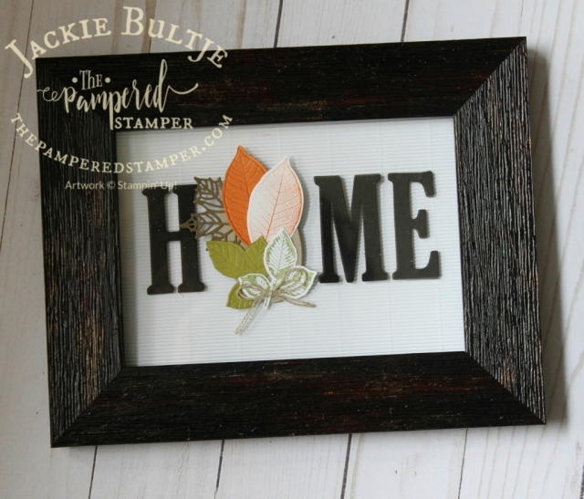 Fall home decor cased from Sandy Carlson.