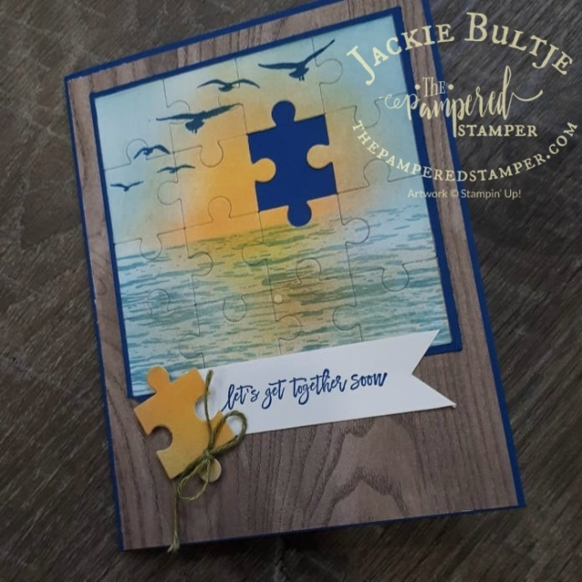 High Tide combines with Love you to Pieces framelits for a fun all occasion card.