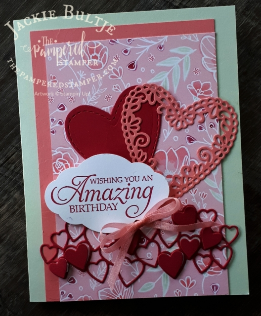 All My Love not just for Valentine's Day, it works great for birthdays and anniversaries too and even for baby cards!