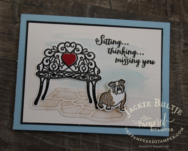 Sitting Pretty Bundle is great for sappy cards and I am total sucker for those once in a while.