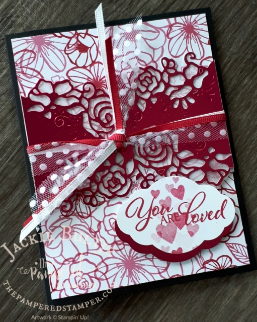 Lovely Lipstick foil for Valentine's Day together with All My Love paper