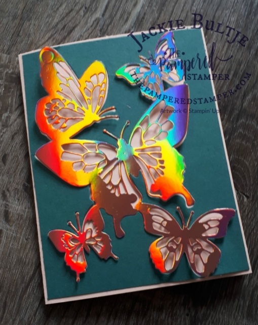 Grapefruit Grove foil butterfly card