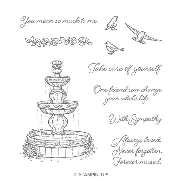 Flowing Fountain has beautiful images and equally lovely sentiments in a beautiful font