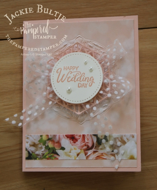 Use the framelits for cutting or embossing in Beautiful Promenade