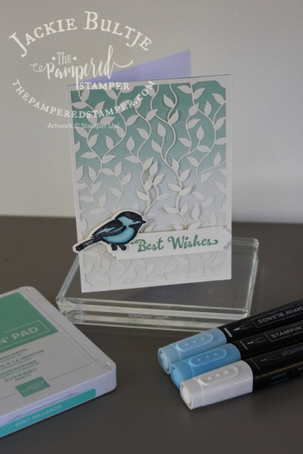 This card was cased from Lynn Dunn and uses the Petal Palette stamp set