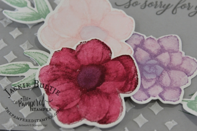 Shimmer white cardstock is beautiful for colouring with an aquapainter and Painted Seasons