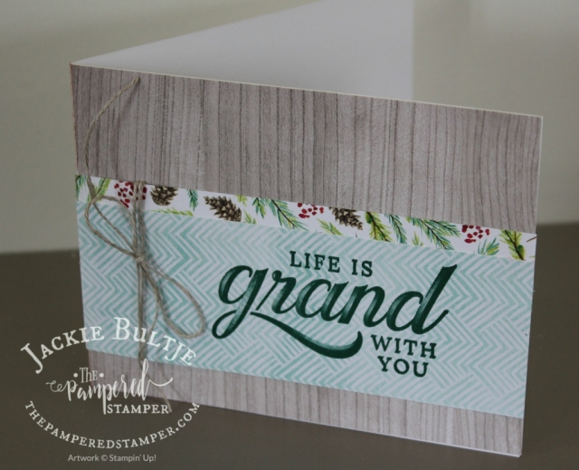 Life is Grand in tranquil tide with Painted Seasons paper and Wood Textures paper