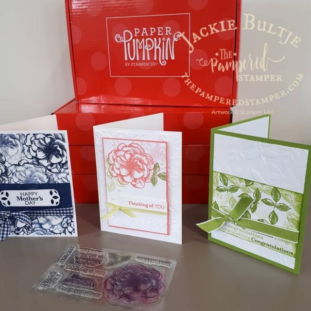 Sentimental Rose Paper Pumpkin alternative cards: a fabulous DIstINKtive set