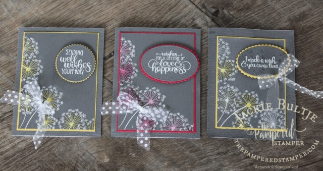 Dandelion Wishes Special Trick with embossing and blends