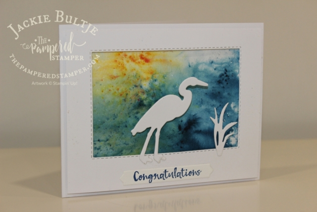 Here is the Lilypad Lake card with a sentiment