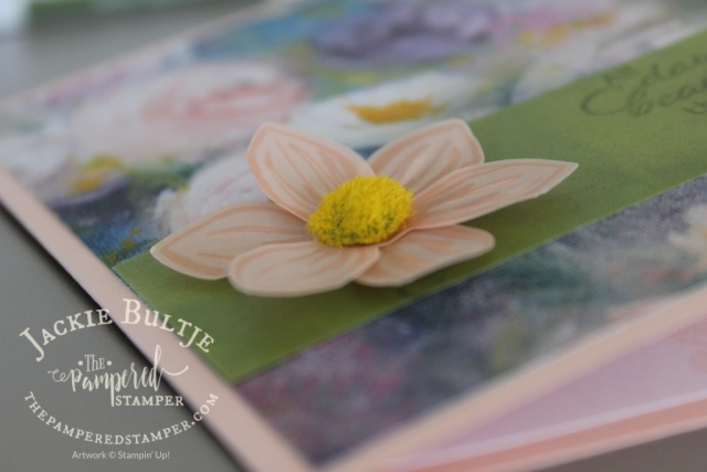 Perennial Essence floral centers with simple stamping card