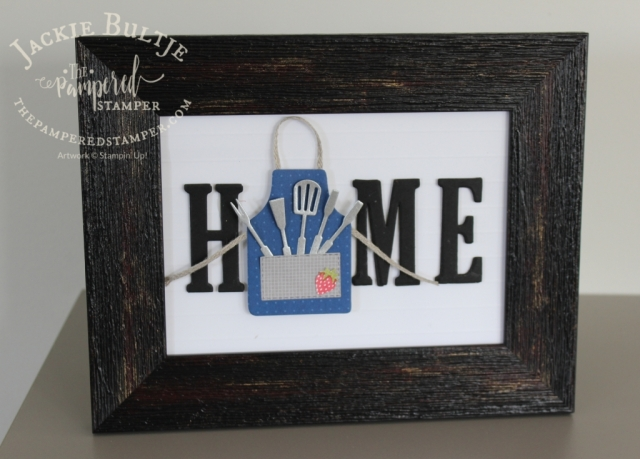 Apron of Love with home decor frame inserts