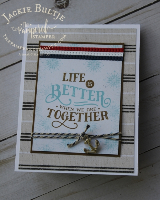Come Sail Away memories and more card on the front of this Twisted Pop-Up card