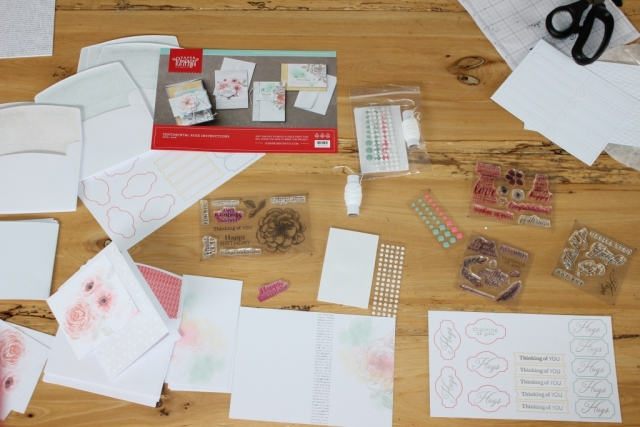 Getting ready for Hospice card making