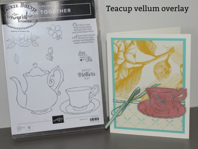 Same recipe for three different Mother's Day tea cards