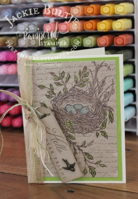 Vintage card with Blends Storage new from Stampin'Up!