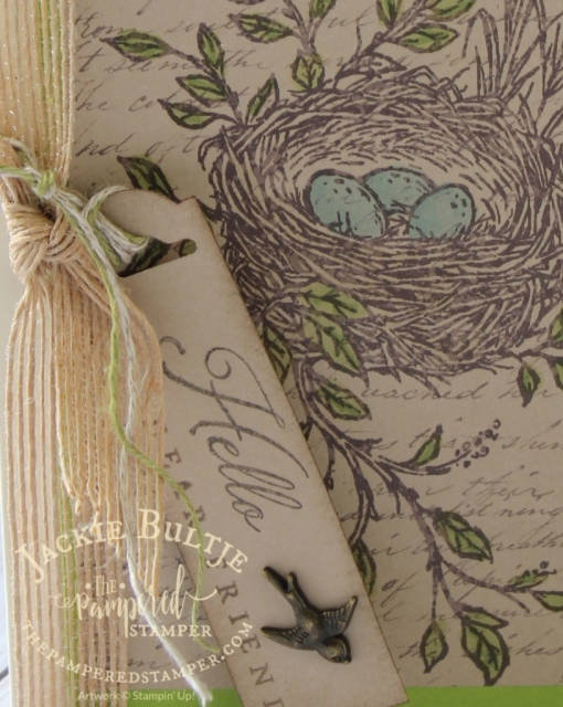 #itsinthedetails with this simple stamping vintage card using the May Paper Pumpkin