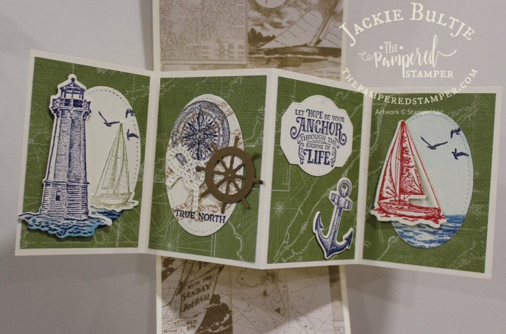 Sailing Home Twisted Pop-Up Card