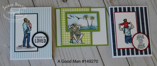 A Good Man is a brand new stamp set in the upcoming catalog going live June 4 2019.
