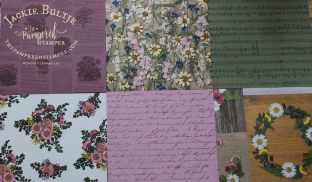 Pressed Petals paper has a lovely vintage feel.