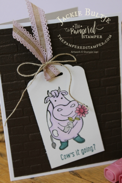 Scalloped tag topper punch with Over the Moon