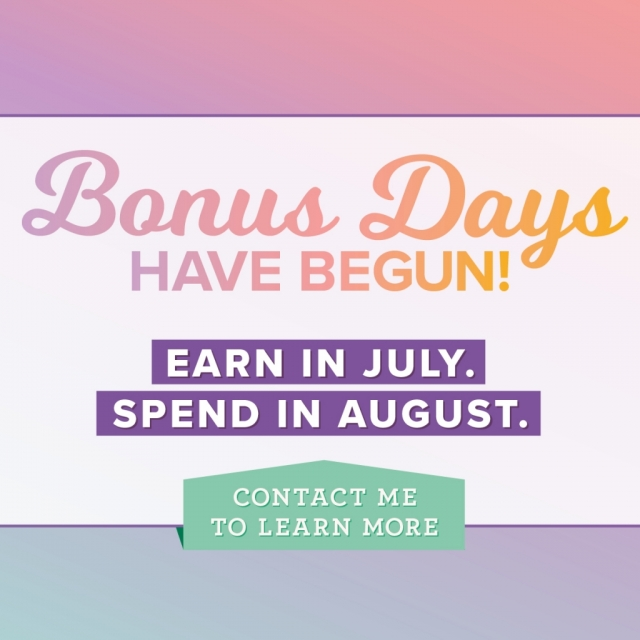 Redeem your bonus days coupons in August