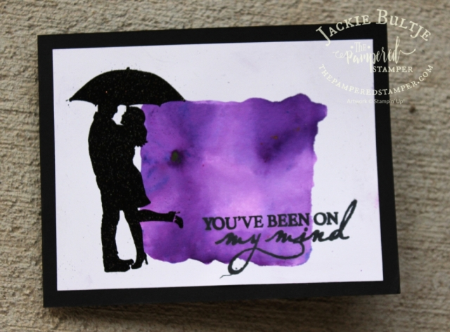 Facebook live card using gorgeous grape pigment sprinkles