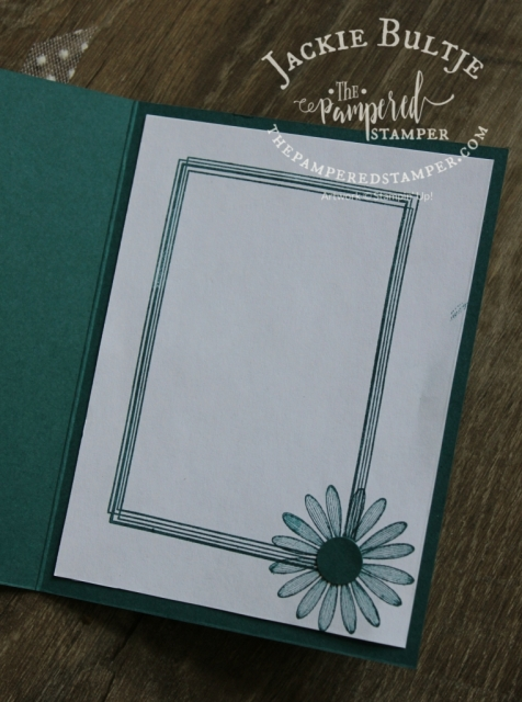 The daisy from Daisy Lane made it into the inside of this card. The frame is from Swirly Frames.