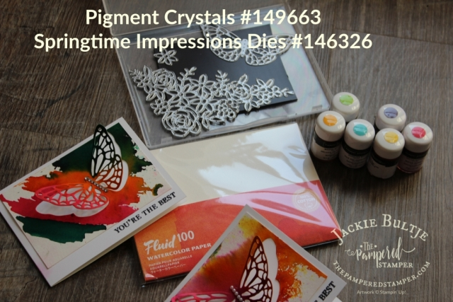 There are six colours of pigment crystals and they come with a flip top lid and three perforations so there is no prep work to be done.
