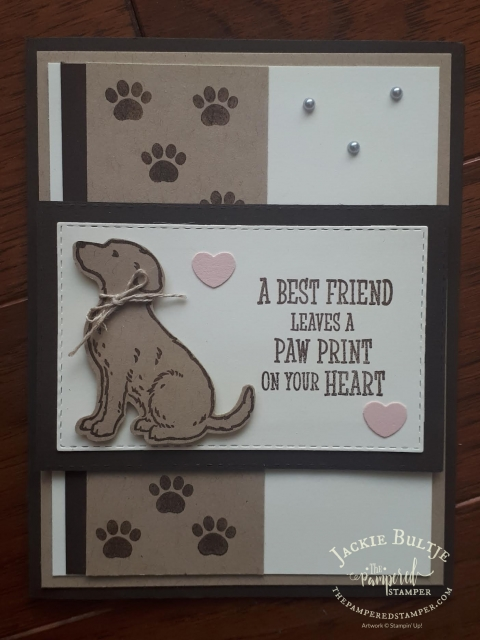 Happy Tails stamp set with coordinating punch- a contribution from my tribe