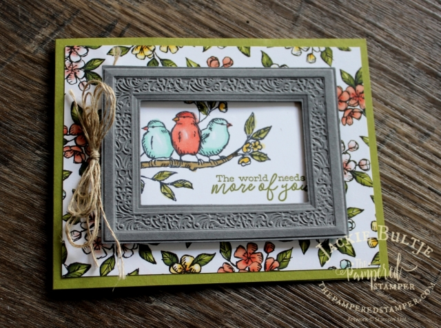 Heirloom Frames and 3D embossing folders