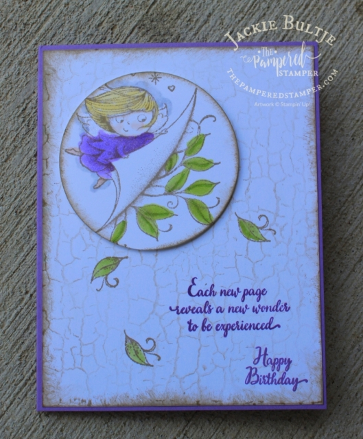 New Wonders and Crackle Paint background stamp