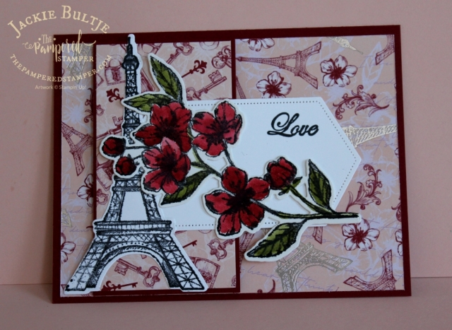 A pop of red for Parisian Blossoms suite