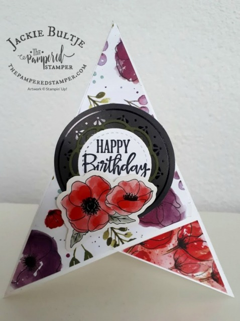 Peaceful Poppies Teepee Card