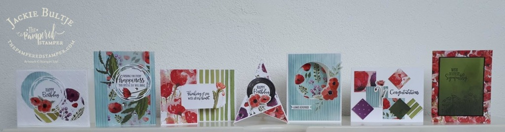 Peaceful Poppies cards