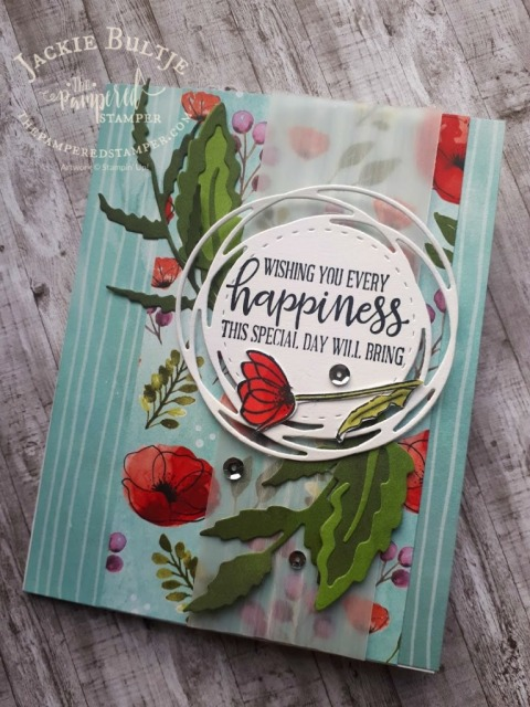 Peaceful Moments with Peaceful Poppies paper
